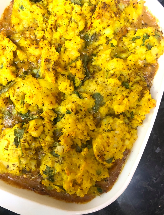 Indian fish pie
